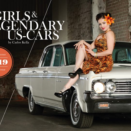 Girls & legendary US-Cars 2019 Wochenkalender