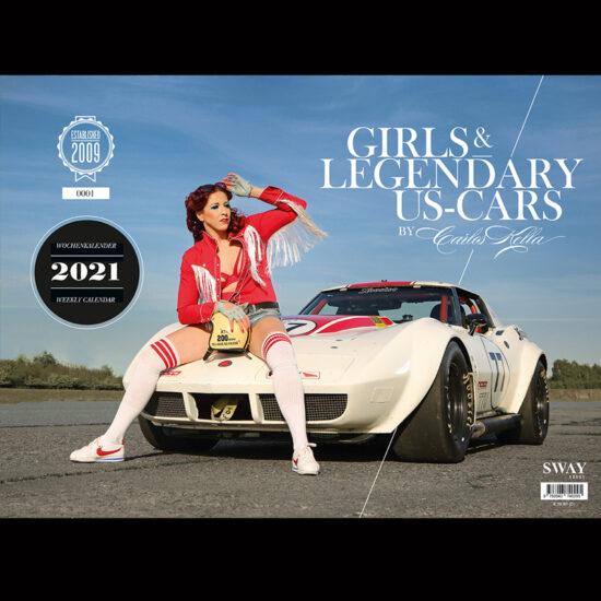 """Der """"Girls & legendary US-Cars"""" 2022 Wochenkalender von Carlos Kella"""