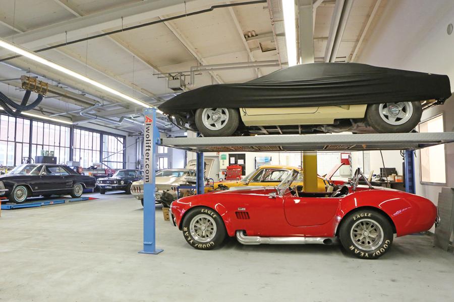 Der Werkstatt-Bereich der Firma westside.cars GmbH & Co. KG / Foto: Carlos Kella
