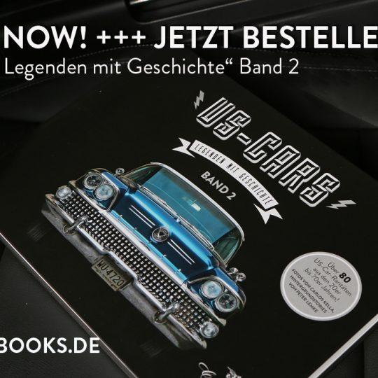 OUT NOW! US-Cars – Legenden mit Geschichte Band 2: Der zweite US-CARS Bildband mit Fotografien von Carlos Kella und Hintergrundstories von Peter Lemke ist jetzt bei SWAY Books lieferbar!