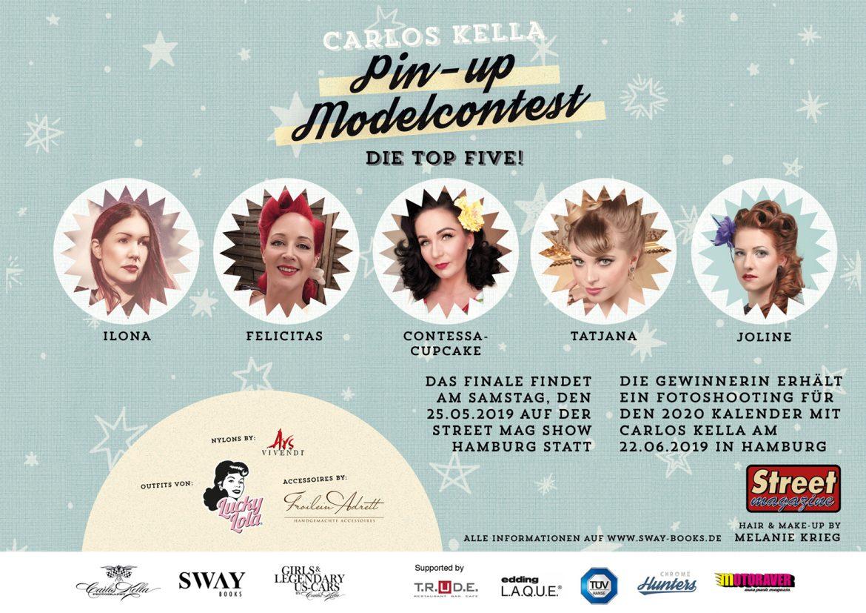 Der Carlos Kella Pin-up Modelcontest – Das Finale auf der Street Mag Show Hamburg, am Samstag, den 25.05.2019