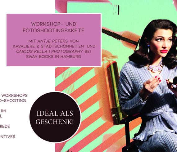 Es gibt neue Termine bis zum Frühjahr 2021 für die Vintage Hair & Make-Up Workshops mit Fotoshooting bei SWAY Books im Shop